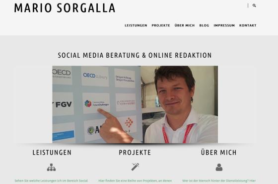 Screenshot von mariosorgalla.de